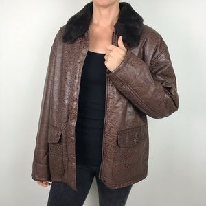 J PERCY MARVIN RICHARDS Leather Bomber Jacket S